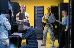 Terrorist invade the US Cyber Command server room.